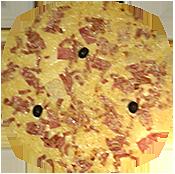Pizza Campagnarde de la Pizzéria La Tour de Pizz à Bourg les Valence