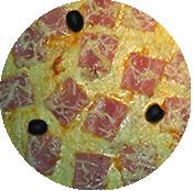 Pizza Jambon de la pizzeria La Tour de Pizz à Bourg Lès Valence