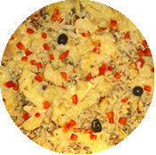 Pizza Basquaise de la Tour de Pizz à Bourg les Valence