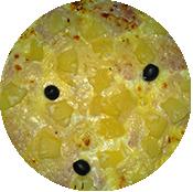 Pizza tropicale de la Pizzéria La Tour de Pizz à Bourg les Valence
