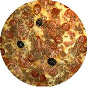 Pizza Cannibale (4 viandes) de la Pizzeria La Tour de Pizz à Bourg les Valence