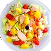 Salade Poulet de la Tour de Pizz à Bourg les Valence