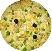 Pizza Végétarienne de la Pizzéria La Tour de Pizz