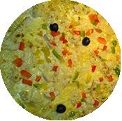 Pizza Indienne de la Pizzéria La tour de Pizz à Bourg les Valence