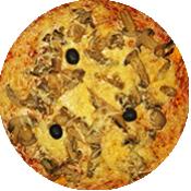 Pizza Forestière de la pizzeria La Tour de Pizz à Bourg Lès Valence