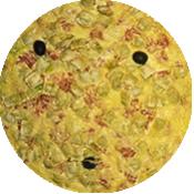 Pizza Ravioles Lardons de La Pizzéria La Tour de Pizz à Bourg les Valence