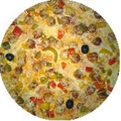Pizza Mexicaine de la Pizzéria la Tour de Pizz à Bourg les Valence